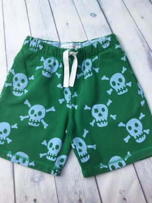Mini Boden green skull and cross bone shorts age 10 (fits age 9-10)